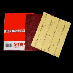 Бумага для мокрой и сухой шлифовки. Зерно: 60-1200. Smirdex Alox (275). 230 мм х 280 мм